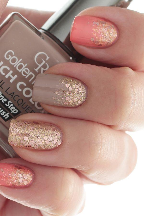 imagenes de uñas doradas