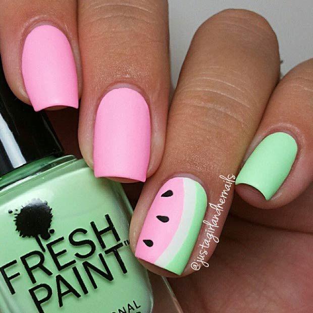 imagenes de uñas rosadas