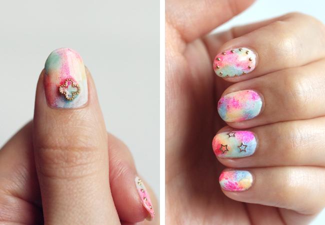 Colores suaves en uñas