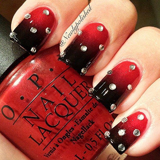 degrade rojo con negro y piedras