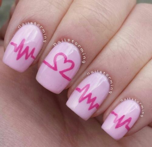 diseño rosado y rojo corazones