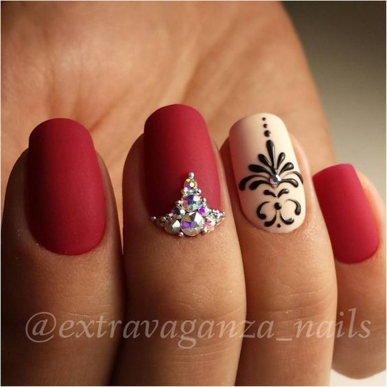 Nail Design Red Color