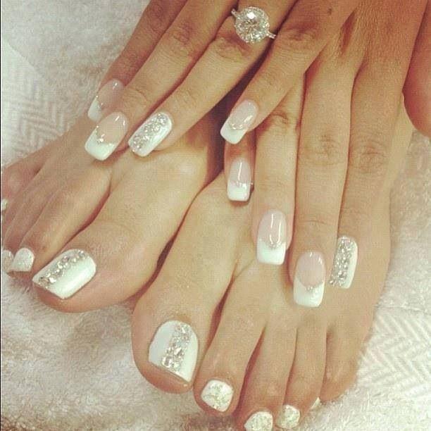 uñas de manos y pies para bodas