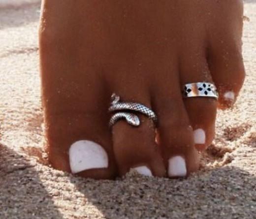 uñas decoradas para pies