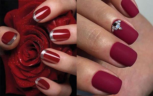Uñas Rojas Decoradas Diseños Con Colores Y Formas Elegantes