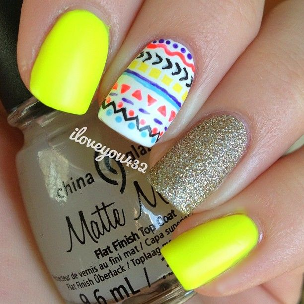 amarillo neon con motivos