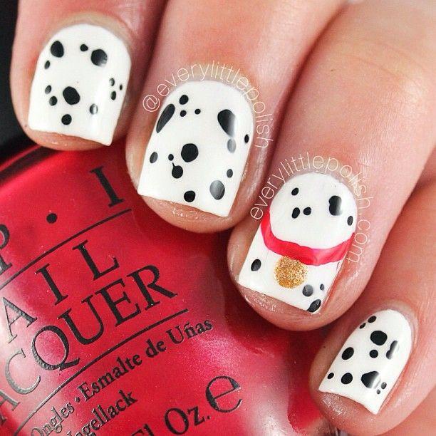 decoracion de uñas de dalmata