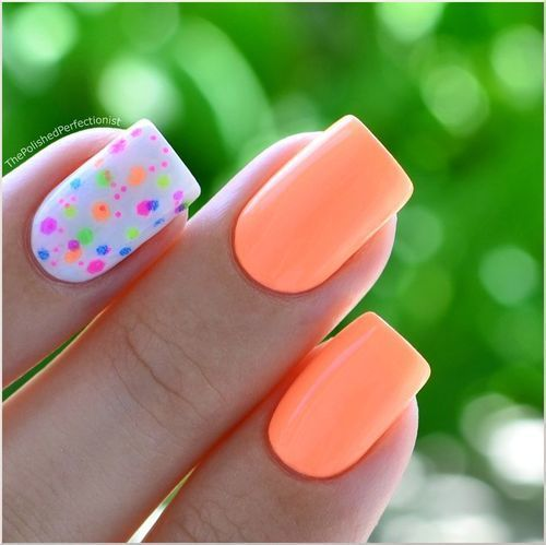 decoracion de uñas de neon rosa