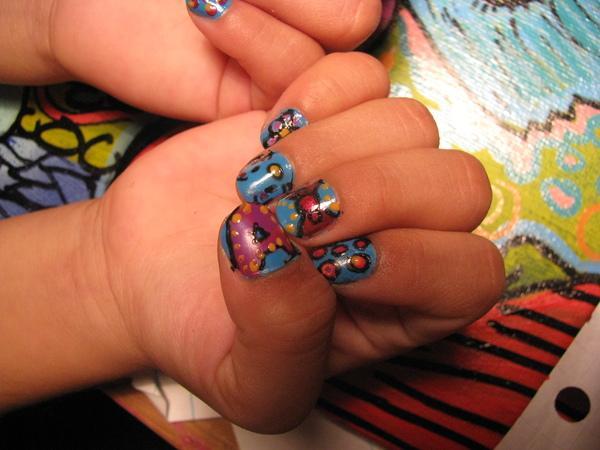 decoracion de uñas para niñas con dibujos