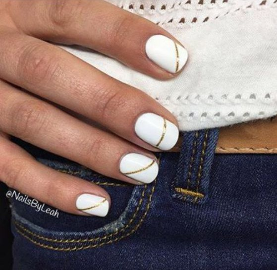 diseños faciles uñas