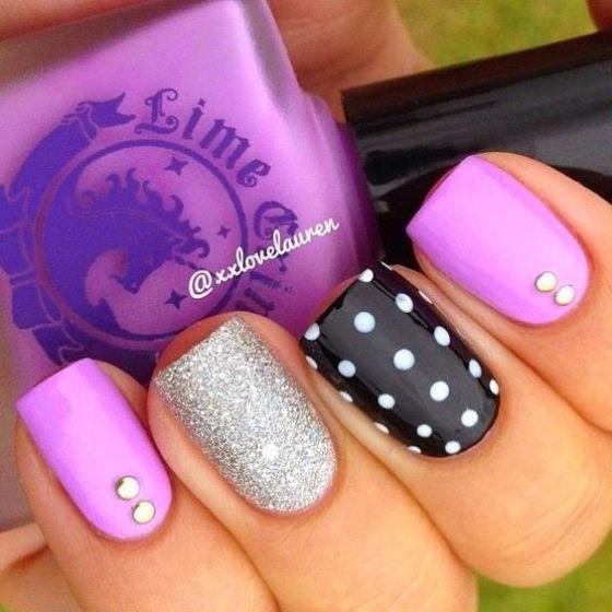 hermosas uñas con piedras para uñas largas