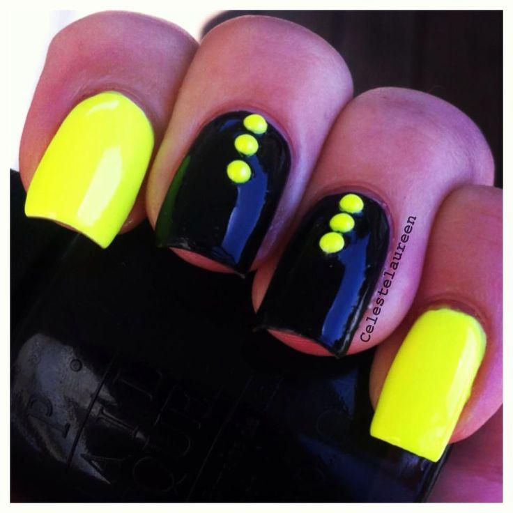 imagenes de uñas decoradas neon