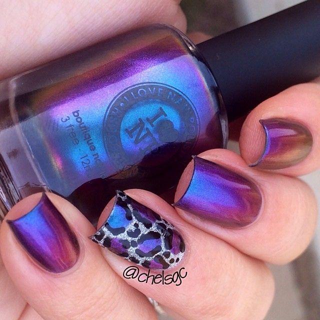 maravillosas uñas moradas