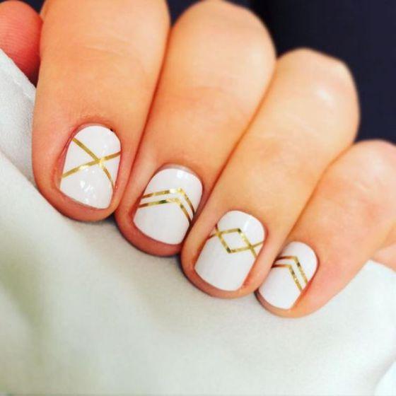 naturales uñas blancas