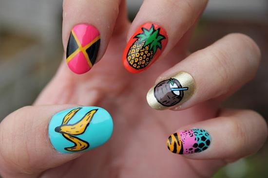 pegatinas para uñas de niñas