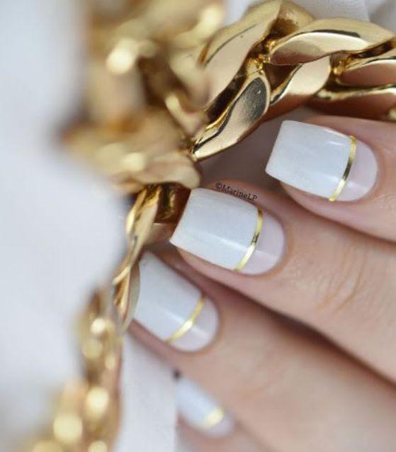 uñas blancas de boda
