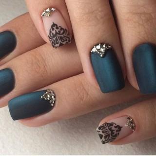 +50 geniales fotos de uñas decoradas con piedras