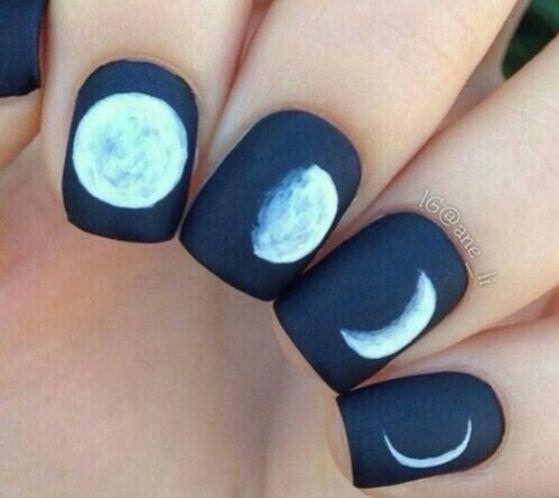 uñas cortas moon style