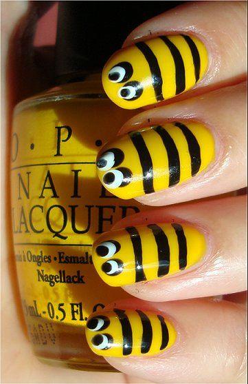 uñas de abeja animal print