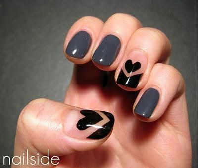 uñas de corazones love nails