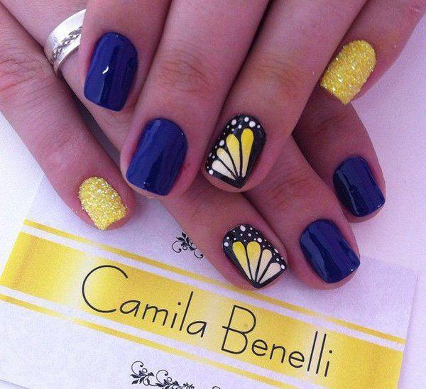 uñas de mariposas para verano