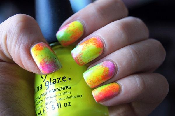 uñas de neon varios colores