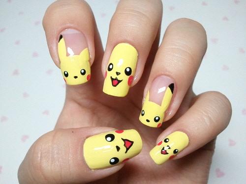 uñas de pikachu