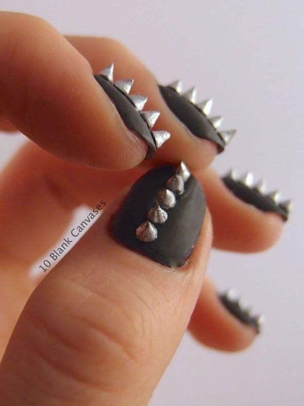 uñas negras metaleras