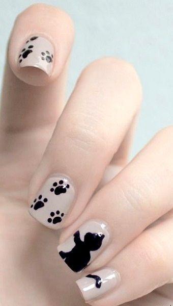 decoracion de uñas con cachorritos