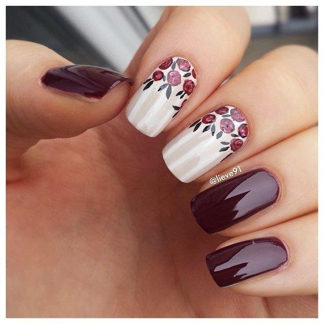 diseño brillante de uñas