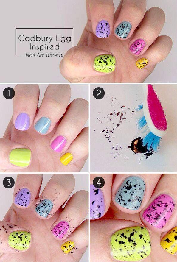 diseño de uñas de colores
