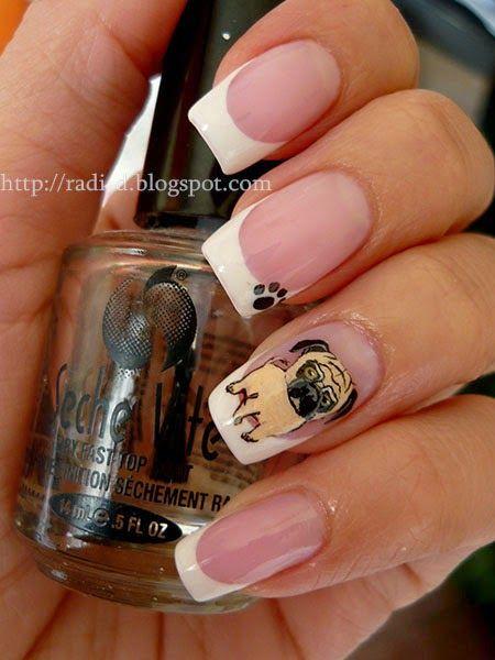 diseño de uñas de perritos