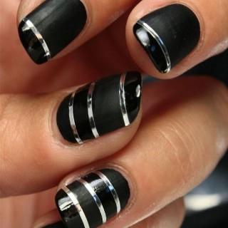 40 maravillosos diseños de uñas decoradas con cintillas