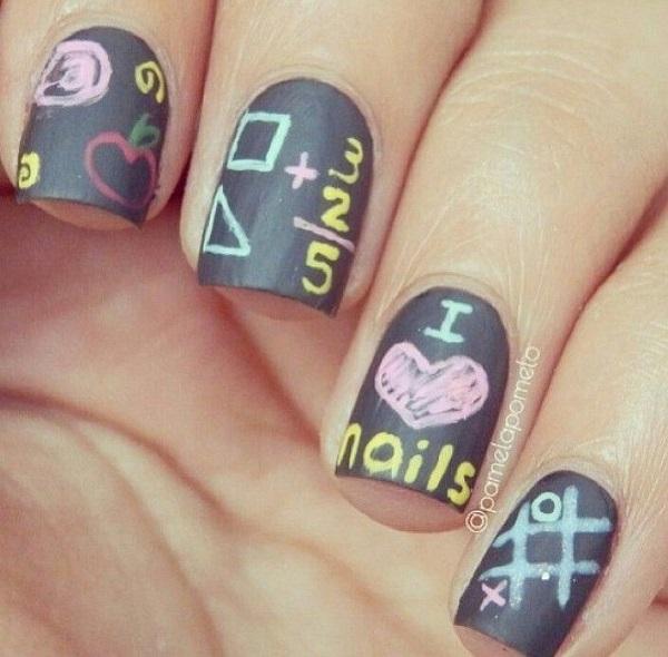 diseño de uñas tipo tablero