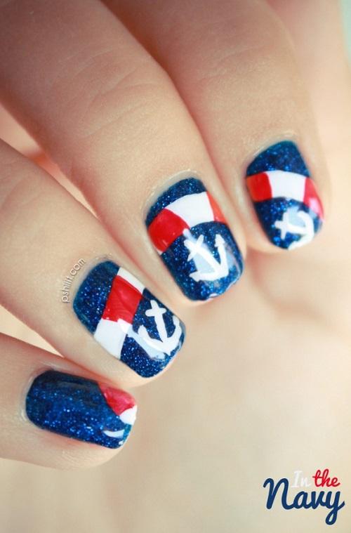 diseño uñas de mar
