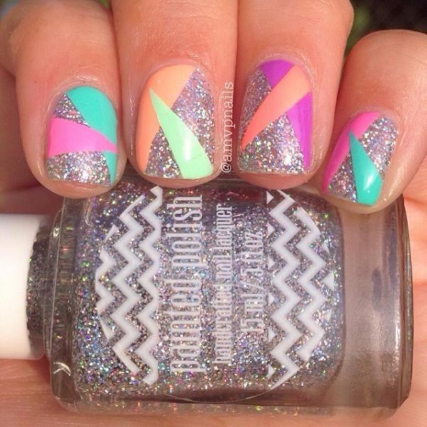 diseños de uñas de colores