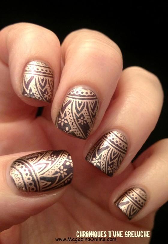 formas uñas doradas
