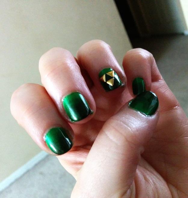la leyenda de zelda uñas