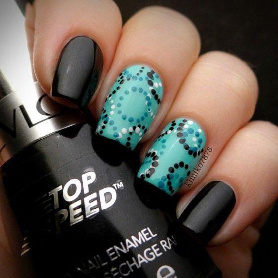 negro con azul acrilicas