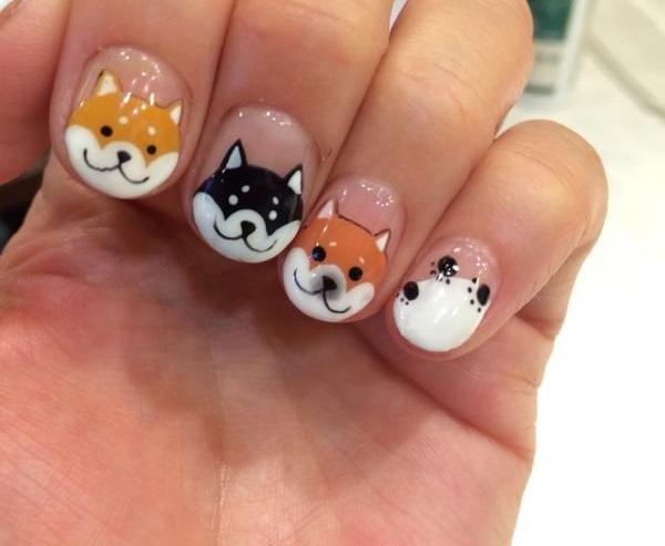 pegatinas de perros para uñas