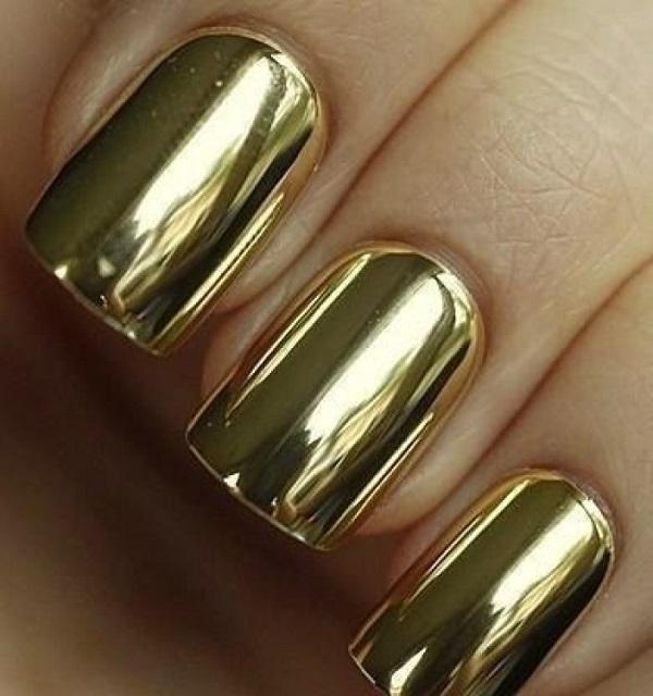 pegatinas de uñas doradas