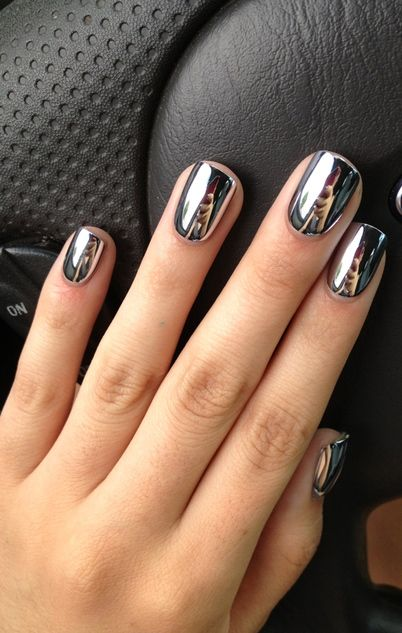 pegatinas uñas plateadas