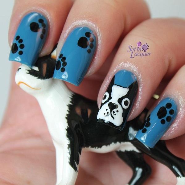 uñas acrilicas con perros