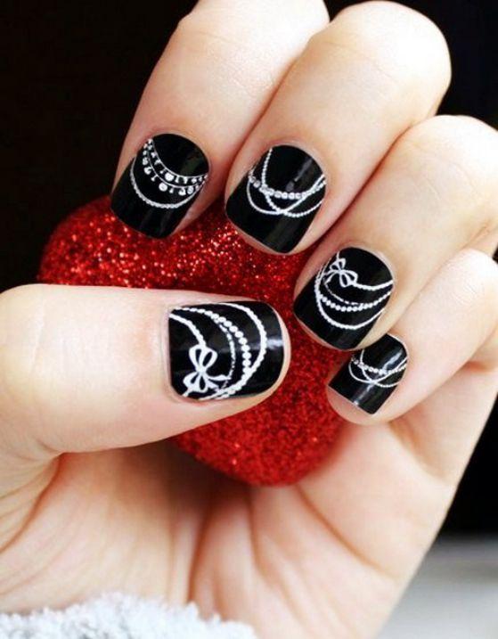 uñas cortas negro y blanco