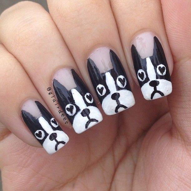 uñas decoradas con perros