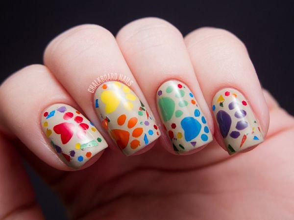 Дизайн ногтей с конфетти фото 2018