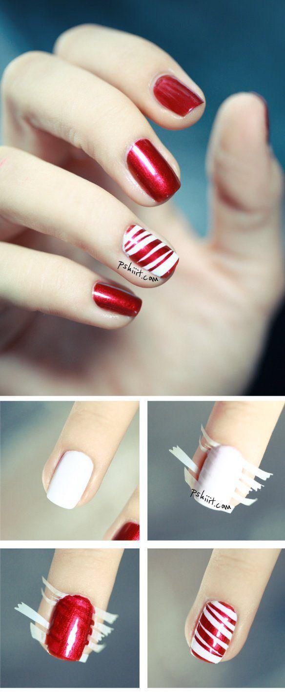 uñas rojas diseño sencillo