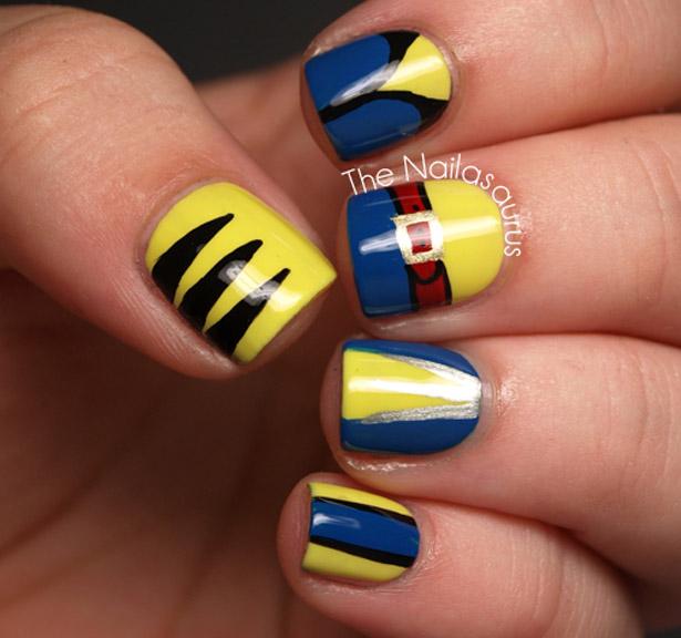 wolverine nail art