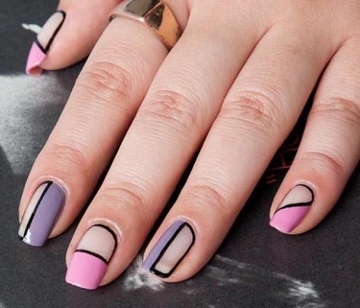 decoracion de uñas en negativo con esmalte