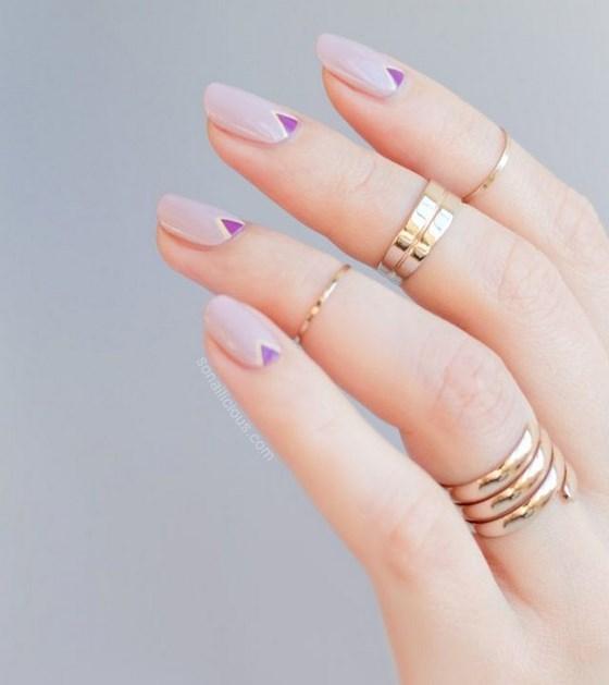 simples y elegantes uñas